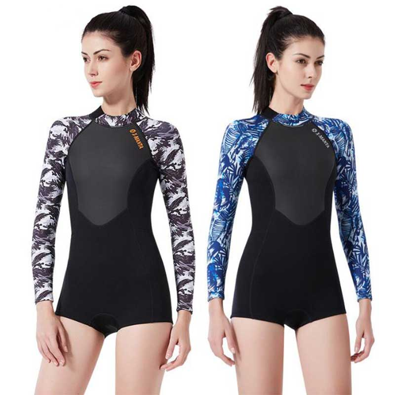 DIVE & SAIL 1.5MM Camo Spring Wetsuit for Women