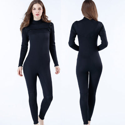 MYLEDI Womens Chest Zip 3MM Warm Full Wetsuit