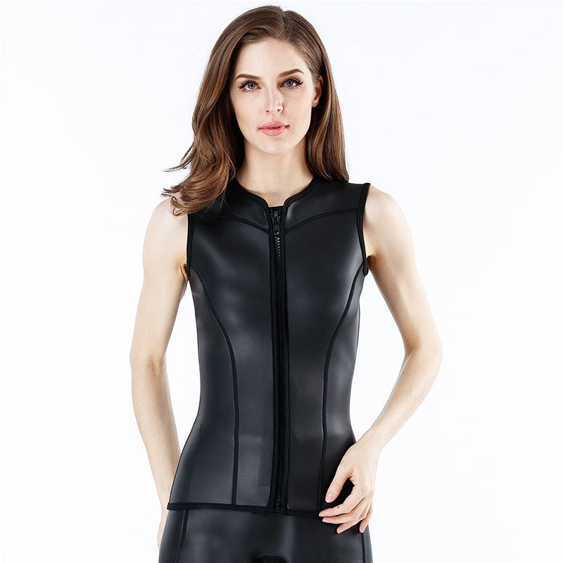 MYLEDI 2MM Women Girls Smooth Skin Wetsuit Vest
