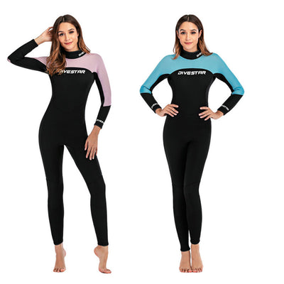 DIVESTAR Womens 3mm Full Body Back Zip Wetsuit