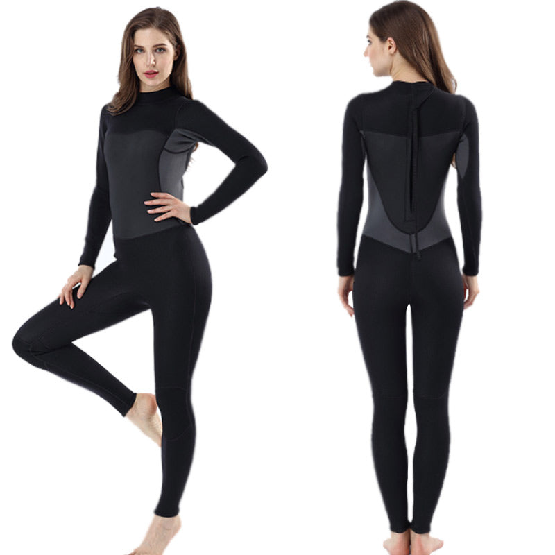 MYLEDI 2MM Ladies Black & Grey Full Body Wetsuit