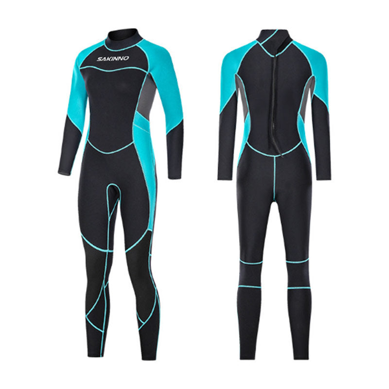 SAKINNO Ladies 3MM Full Body Swimming Wetsuit