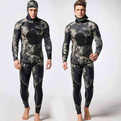 MYLEDI 3MM Men's 2 Piece Spearfishing Camouflage Wetsuit