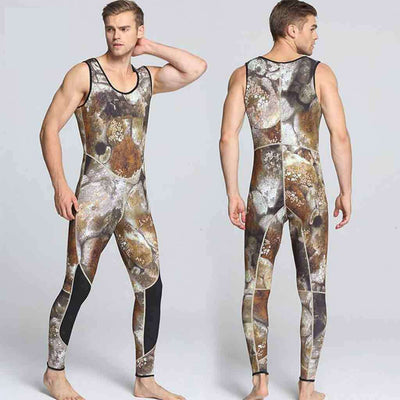 3MM Men's 2-Piece Hooded Camouflage Diving Wetsuit