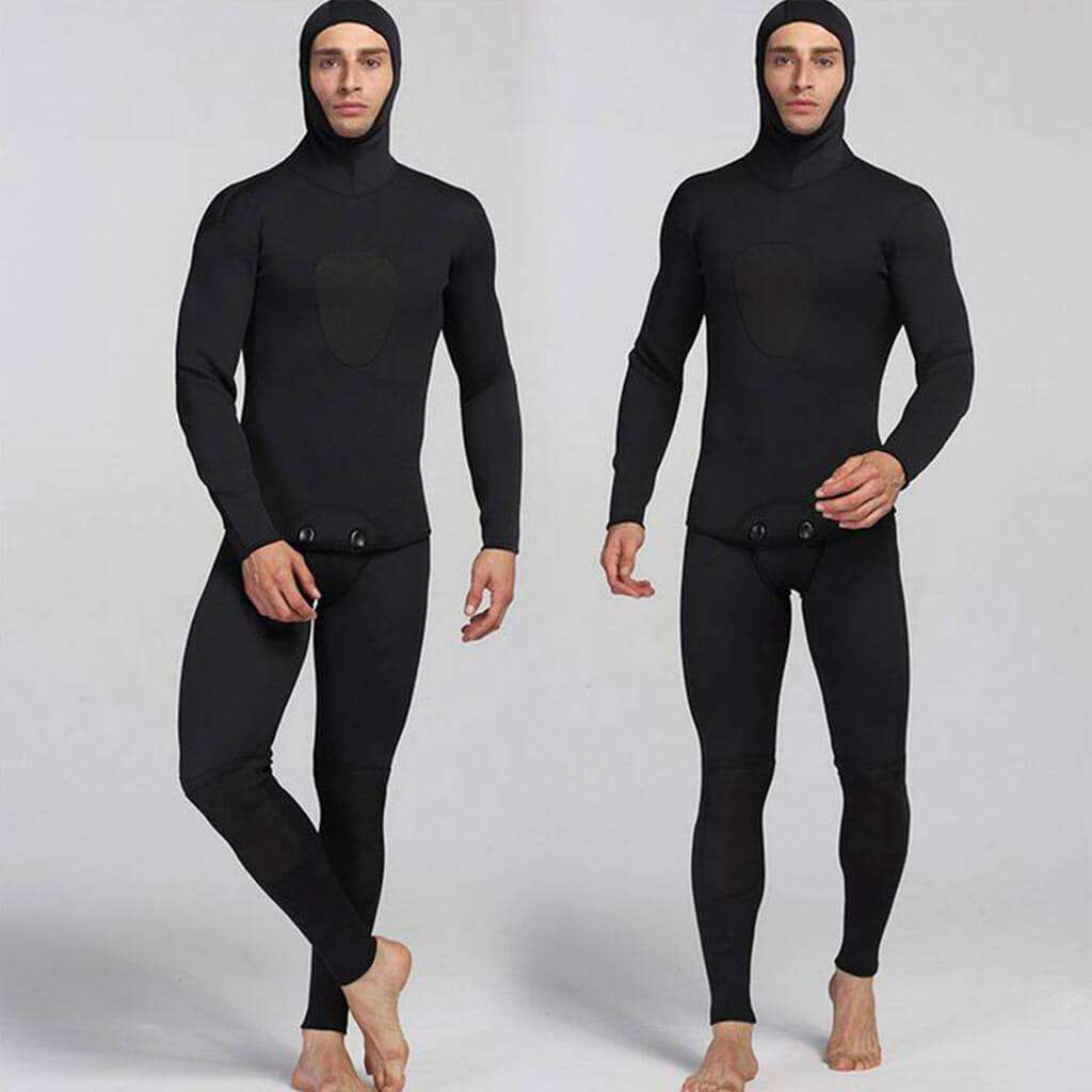 MYLEDI Mens 2 Piece 3mm Closed Cell Wetsuit with Hood