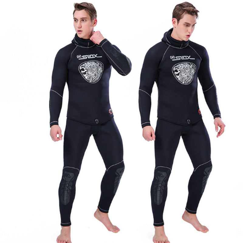 SLINX Mens 2-Piece 5MM Deep Diving Winter Wetsuit