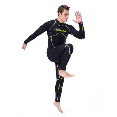 SLINX Men's 3mm 1 Piece Back Zip Thermal Plus Size Free Diving Wetsuit