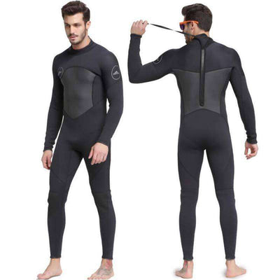 Men's 3MM Winter Long Sleeve One Piece Diving Wetsuit