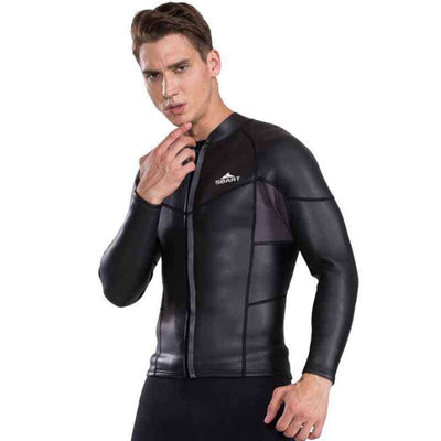 SBART 2mm Men's Smoothskin Rubber Wetsuit Jacket