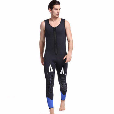 Sbart Men's 2 Piece 5MM Hooded Mask Front Zip Wetsuit