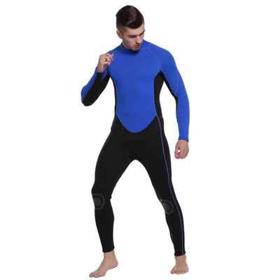 Sbart 3MM Men's Full Length Wetsuit Long Sleeve Back Zip Scuba Wet Suit