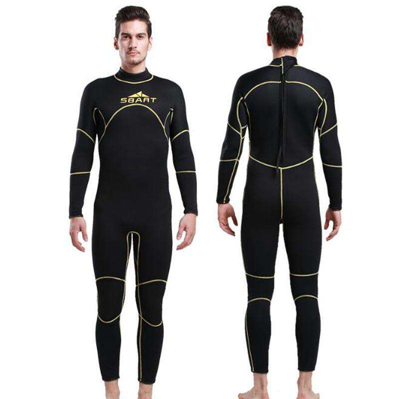 Sbart 3MM One Piece Freediving Suit Full Length Wetsuit for Men