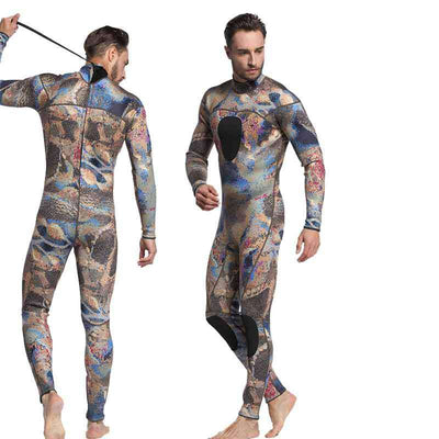 One Piece 3mm Camo Spearfishing Wetsuit for Men