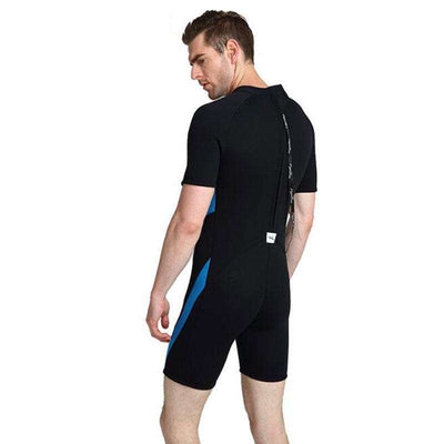 LAYATONE Mens 3mm Plus Size Shorty Wetsuit
