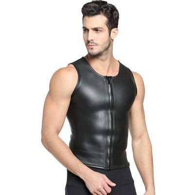 MYLEDI 2mm Mens CR Smooth Skin Rubber Wetsuit Vest