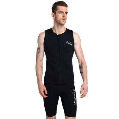 LAYATONE Men's 3mm Diving Vest and Shorts Sleeveless 2 Piece Wetsuit