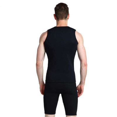 Men's 3mm 2-Piece Short John Wetsuit with Vest and Shorts