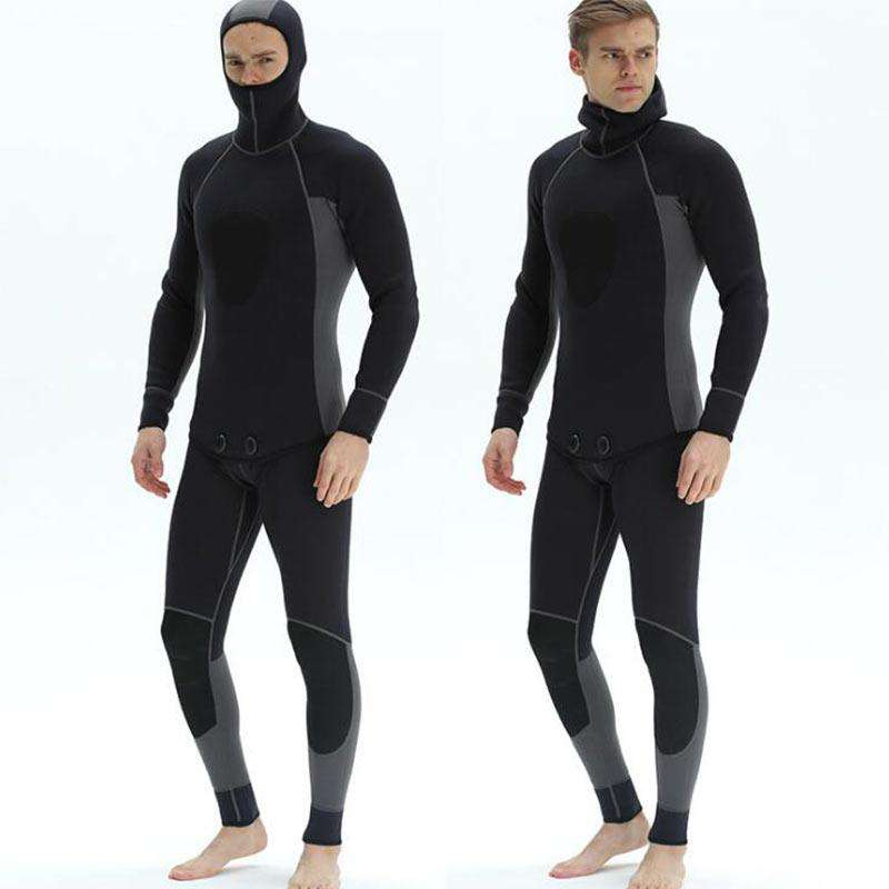 Zipless Men's 3MM Two Piece Hooded Full Diving Wetsuit