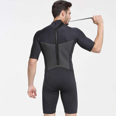 Sbart Men's 2mm Shorty Wetsuit Free Diving Snorkeling Windsurfing Suit