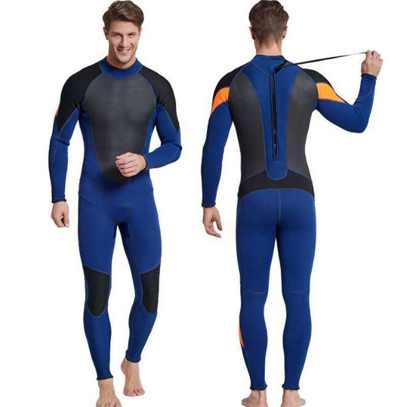 Sbart Mens 3mm Full Body Back Zip Freediving Wetsuit