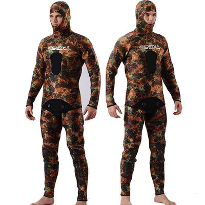SLINX Mens Beavertail 2 Piece 5mm Camo Wetsuit