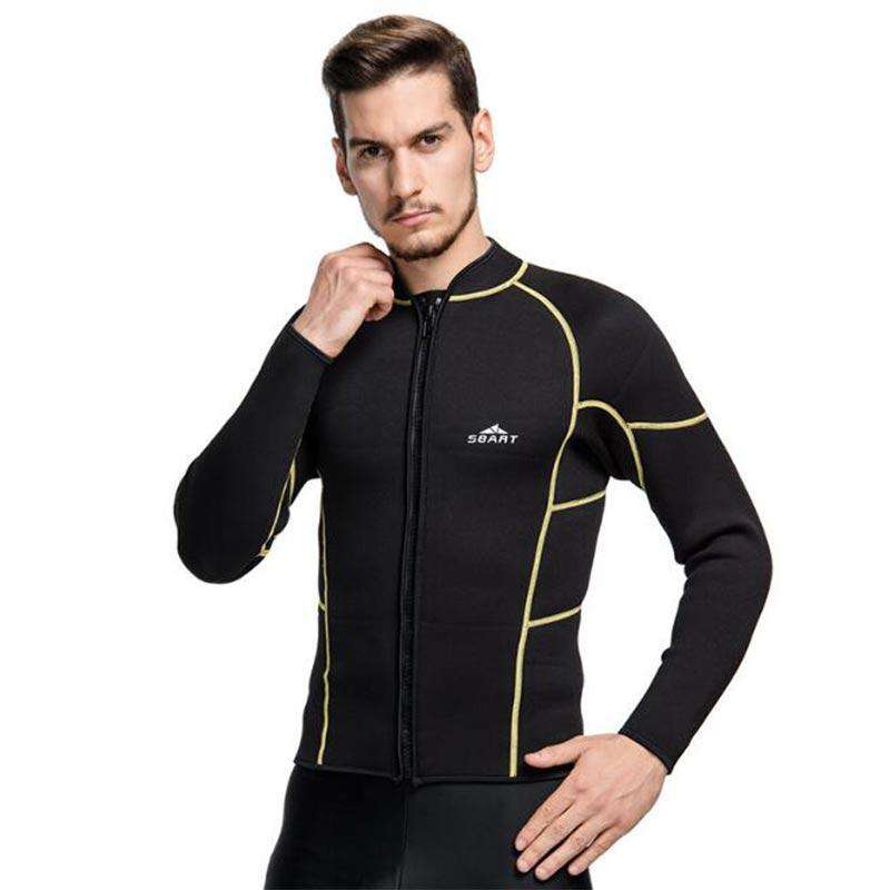 Sbart 3mm Black Wetsuit Jacket Top for Men
