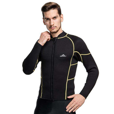 Warm 3mm Long Sleeve Wetsuit Jacket Top for Men