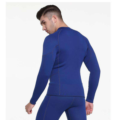 Front Zip Long Sleeve 3mm Wetsuit Jacket Top for Men
