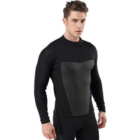 Long Sleeve 3MM Neoprene Men's Diving Wetsuit Jacket Top