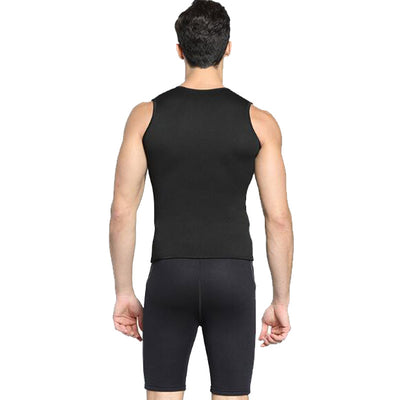 MYLEDI 3MM Men's Front Zip Wetsuit Vest Sleevelesss Top