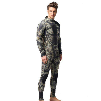 Men's Long Sleeve 1.5mm Full Camo Wetsuit for Spearfishing