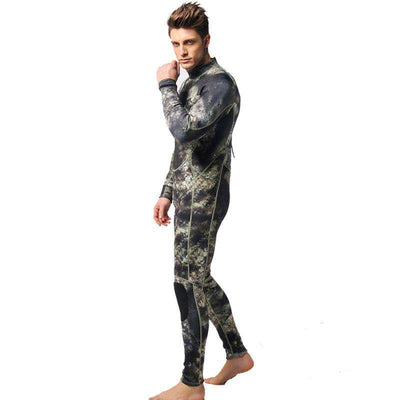 Men's Long Sleeve 1.5mm 1 Piece Camo Wetsuit for Spearfishing