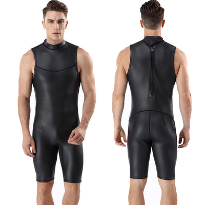 2MM CR Smooth Skin Short John Wetsuit for Diving Surfing