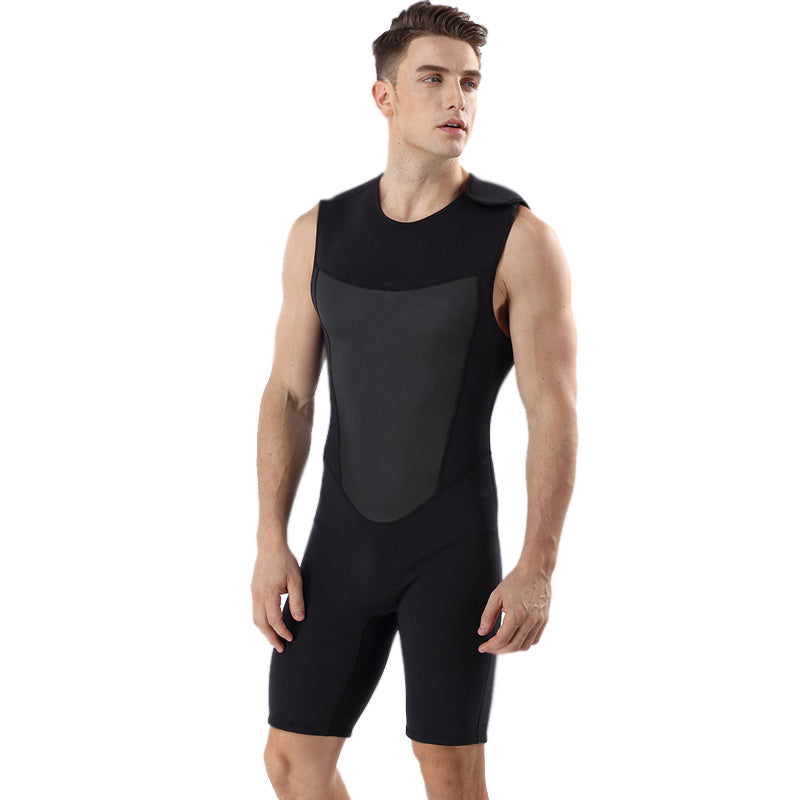 MYLEDI Mens Neoprene 2MM Short Farmer John Wetsuit
