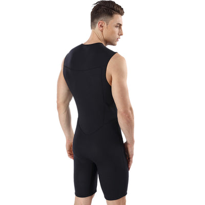 Men's Neoprene 2MM Sleeveless Short Farmer John Wetsuit for Diving Surfing
