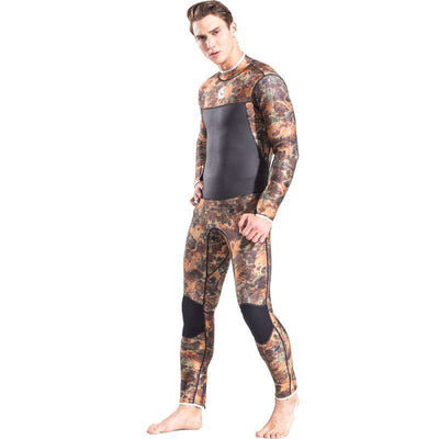 HISEA Men's 3MM Full Camo Wetsuit Red Reef Spearfishing Suit