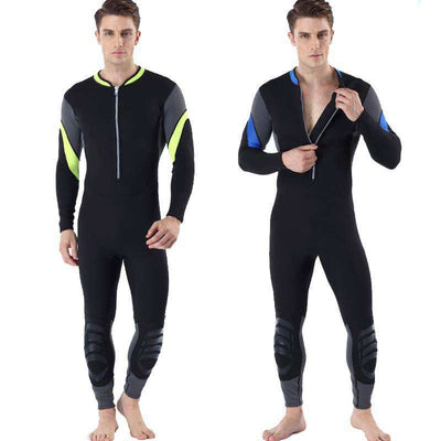 3MM Men's Diving Surfing One Piece Front Zip Long Sleeve Wetsuit
