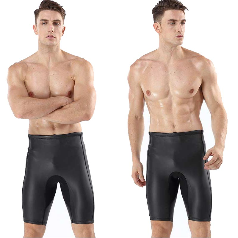 MYLEDI Men's 2MM CR Smooth Skin Wetsuit Shorts