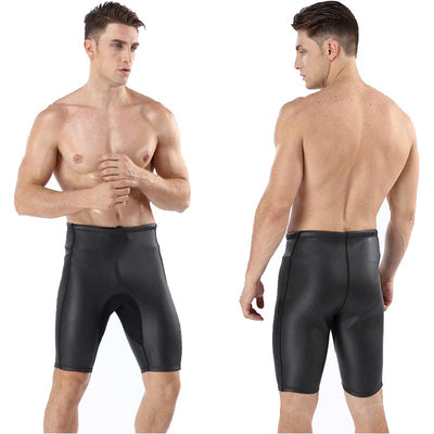 MYLEDI Men's 2MM Smooth Skin Wetsuit Shorts CR Rubber Diving Surfing Bottoms