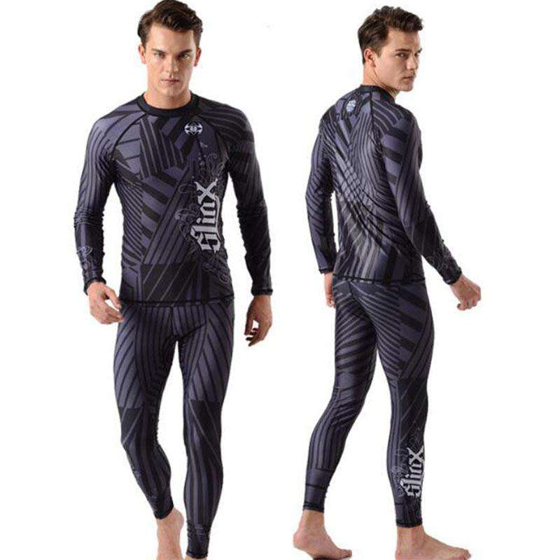 SLINX 2 Piece Lycra Dive Skin Suit Rashguard for Men
