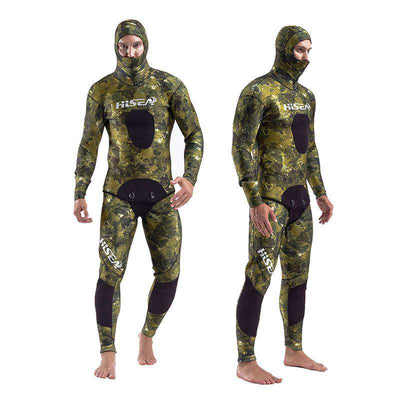 HISEA 7mm Spearfishing Coral Reef Open Cell Camo Wetsuit