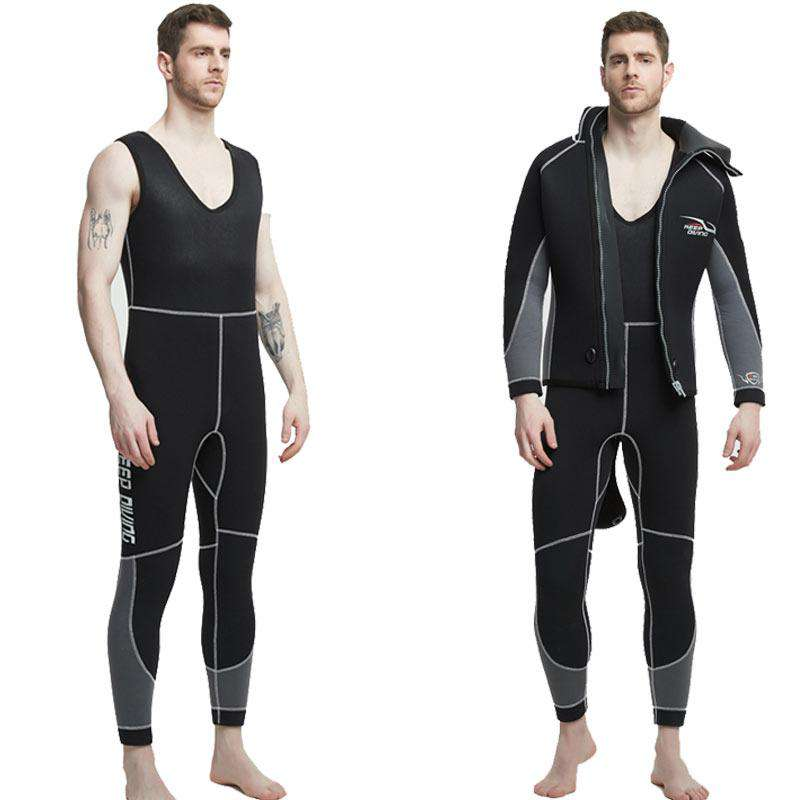 KEEP DIVING Mens 7MM 5MM Plus Size Cold Water Wetsuit