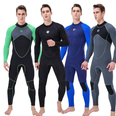 SLINX Mens 3mm Neoprene Wetsuit Warm Full Length Surfing Scuba Diving Suit