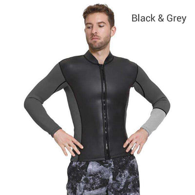 SBART 3MM Long Sleeve Smoothskin Rubber Wetsuit Top