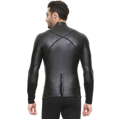 Sbart 3MM Smooth Skin Diving Top Long Sleeve Snorkeling Wetsuit Shirt for Men
