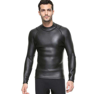 Sbart 3MM Mens Smoothskin Long Sleeve Wetsuit Top