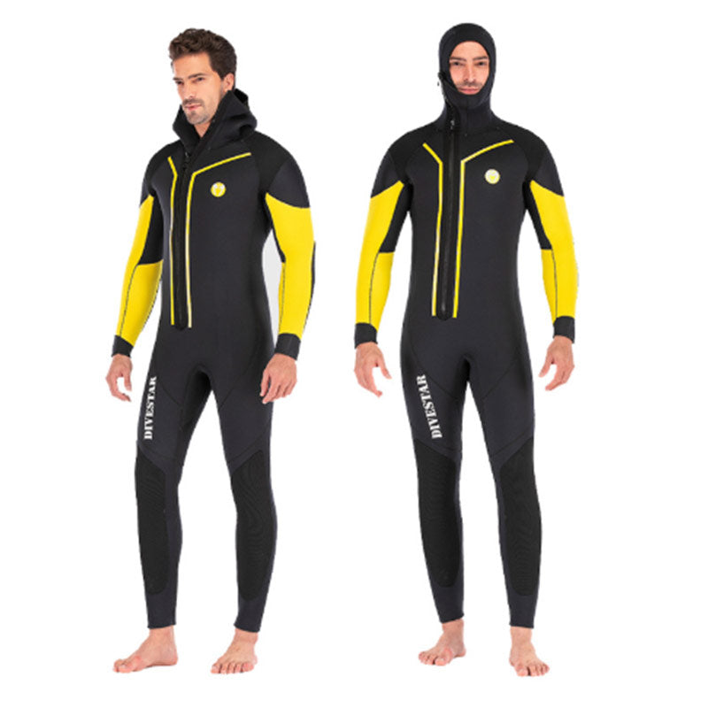 DIVESTAR 7MM Semi-Dry Winter Wetsuit with Hood