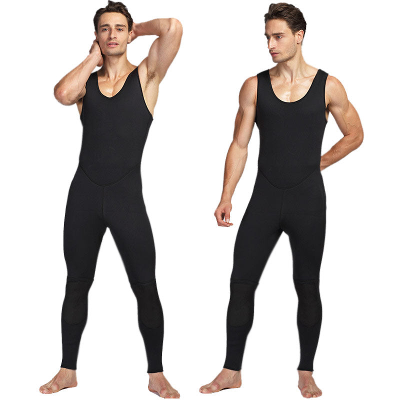MYLEDI 3MM Neoprene Farmer Long John Wetsuit