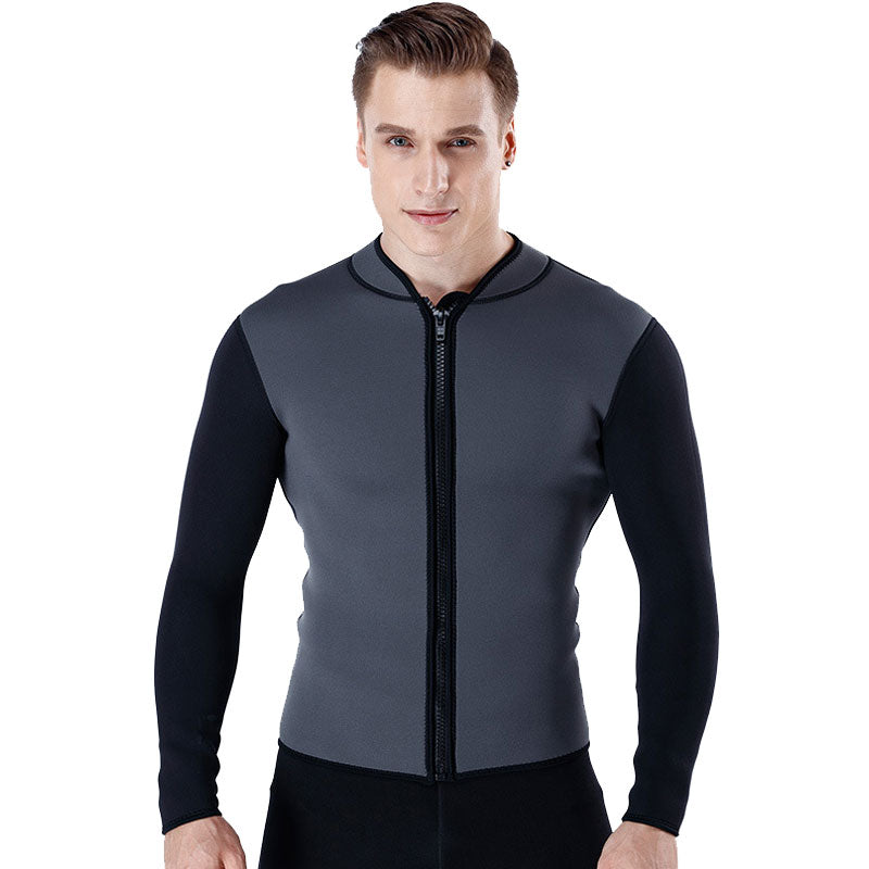MYLEDI Mens 3MM Neoprene Front Zip Wetsuit Jacket