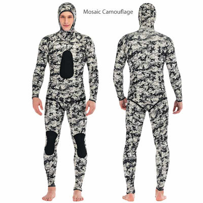 DIVESTAR 3MM 2 Piece Yamamoto Camo Wetsuit